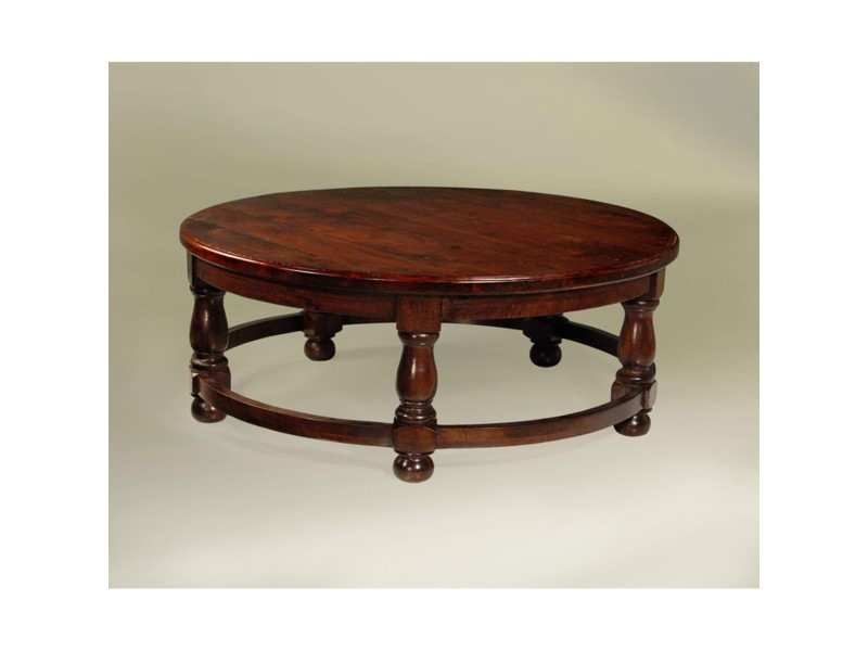 Century Coffee Table Round 42x42x18 Chestnut